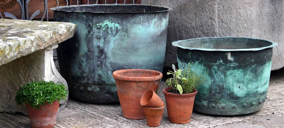 A range of garden antiques from Js Garden Antiques Pots and