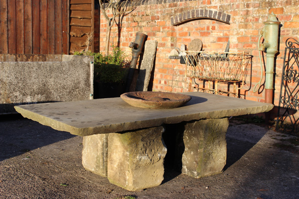 Large Yorkshire Stone Patio Table