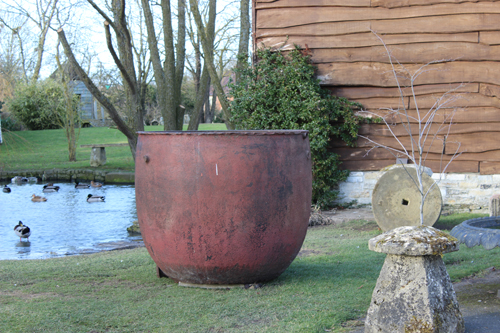 X Large Cast Iron Cauldron Planter