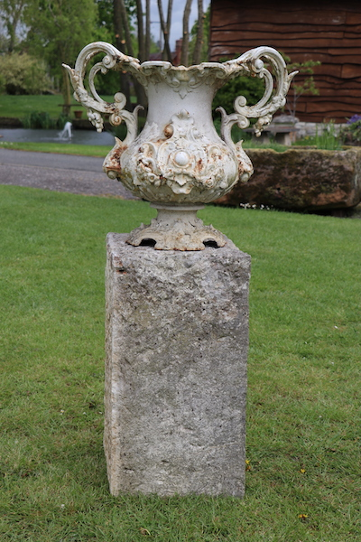 Antique garden urn