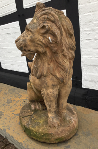 Vintage Lion garden features