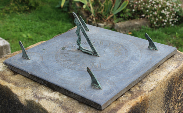 Usual Scottish Slate Multi Gnomon Sundial Plate