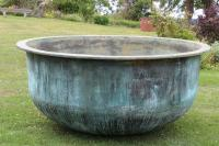 X Large Copper Cheese Vat Green (Stk No.3879)