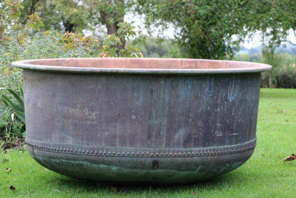 ++++++SOLD+++++++X Large Copper Cheese Vat - Riveted (Stk No.3799)