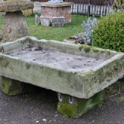 Large Stone Sink on Stone Bases (Stk No.3163)
