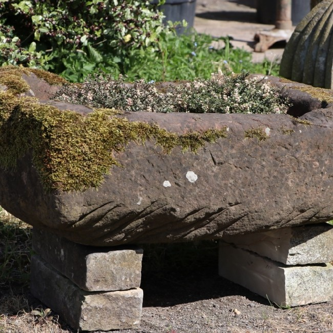 18th Century Sandstone Boulder Trough (Stk No.3766)