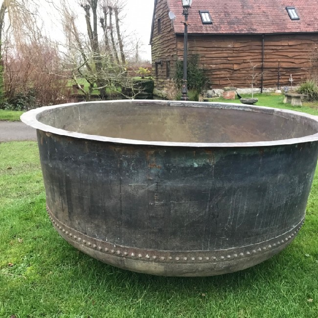 X Large Riveted Copper Cheese Vat (Stk No.3807)