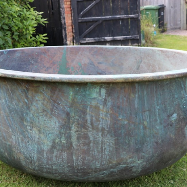 RESERVED Large Copper Cheese Vat (Stk No.3767)