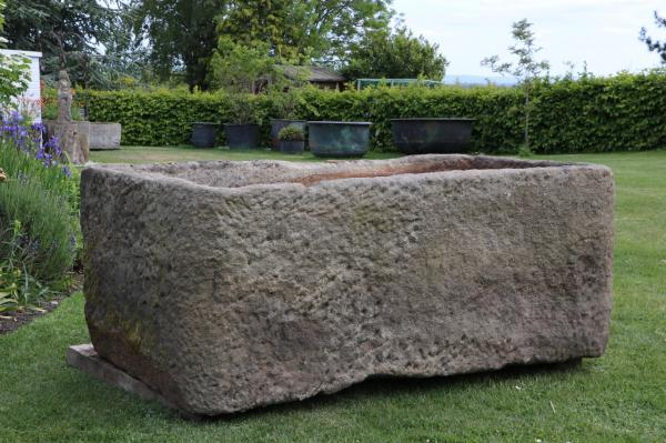 RESERVED. X Large Derbyshire Stone Trough (Stk No.3836) - Photo 2
