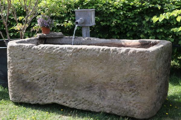 RESERVED. X Large Derbyshire Stone Trough (Stk No.3836) - Photo 3