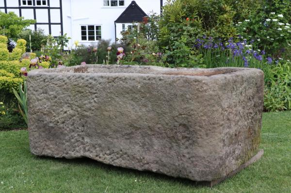 RESERVED. X Large Derbyshire Stone Trough (Stk No.3836) - Photo 1