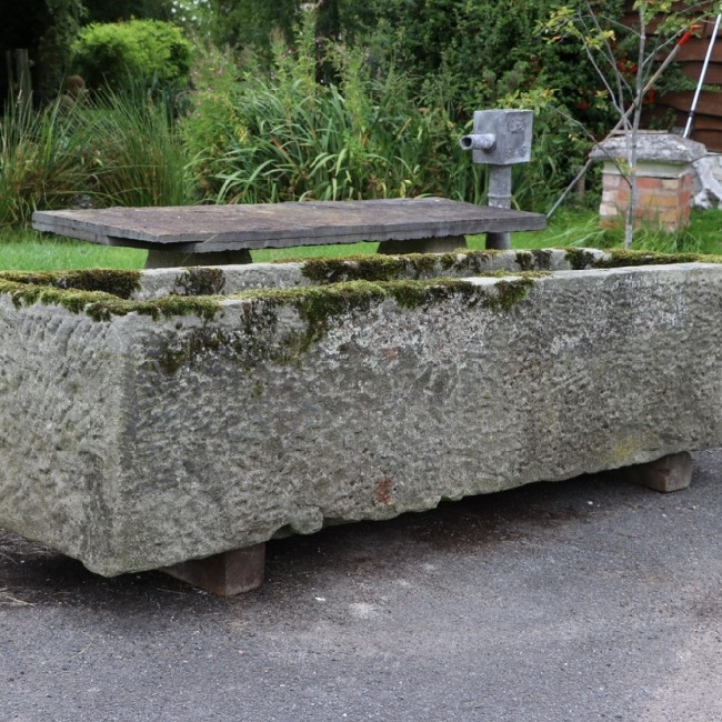 Large Long and Narrow Yorkshire Stone Trough (Stk No. 3781) - Photo 2