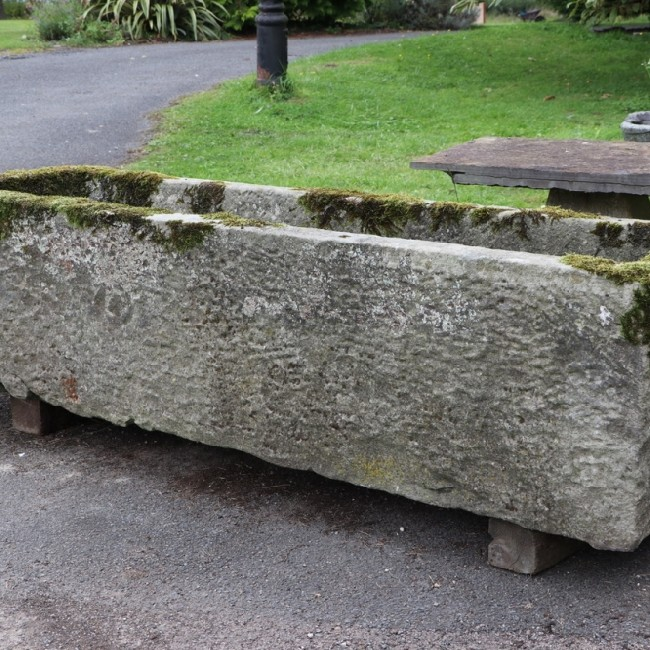 Large Long and Narrow Yorkshire Stone Trough (Stk No. 3781)