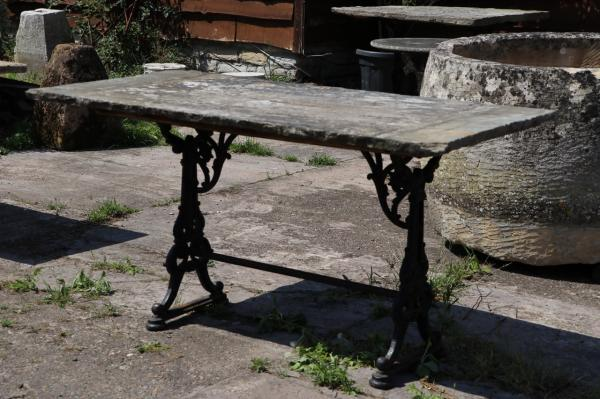 Iron Based York Stone Table (Stk No.3872) - Photo 2