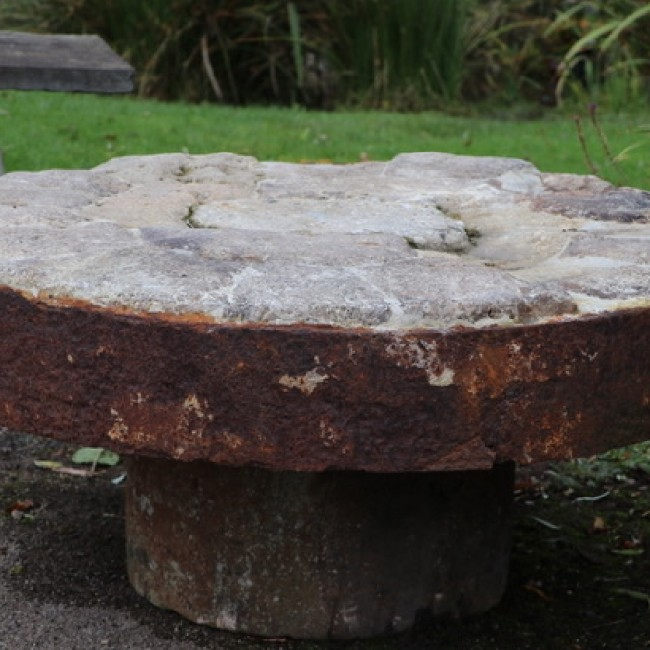 Large Segmented Millstone Patio Table (Stk No.3798) - Photo 2