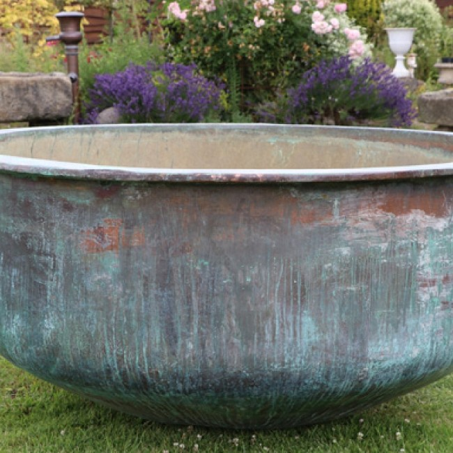 X Large Copper Cheese Vat (Stk No.3768)