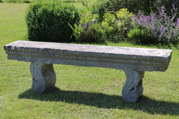 Decorative Solid Stone Seat with Curved Fitted Supports (Stk No.3874) - Photo 3