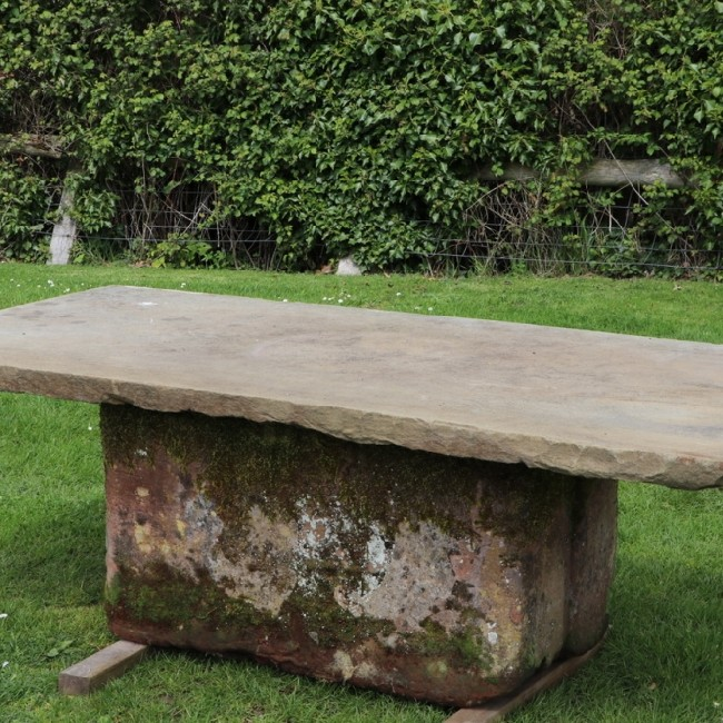 York Stone Patio Table (Stk No.3692)