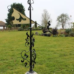 Lead Ball, Flag Weather Vane (Stk No.3166)