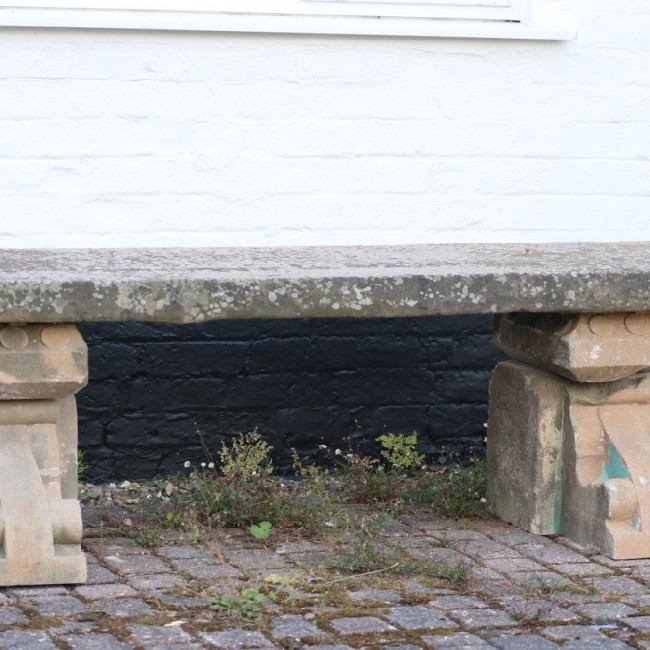 Yorkshire Stone Seat with Corbel Bases (Stk No.3765)