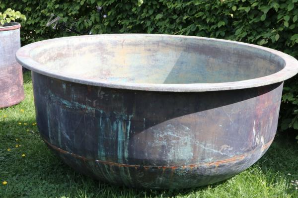 X Large Copper Cheese Vat - smooth sided (Stk No.3805)