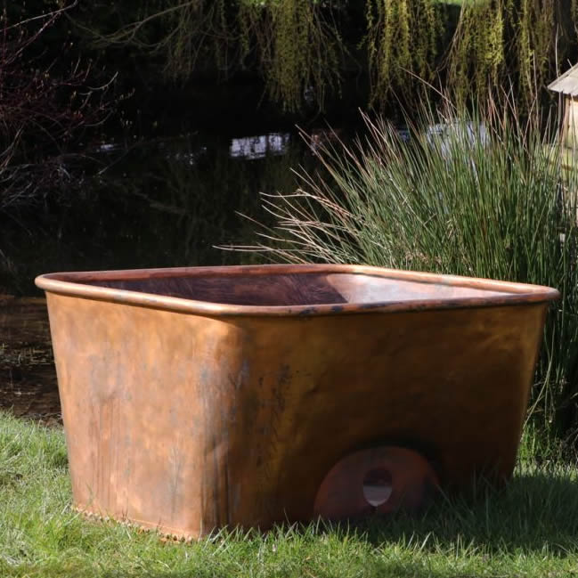 Shaped Copper Planter (Stk No.3821)