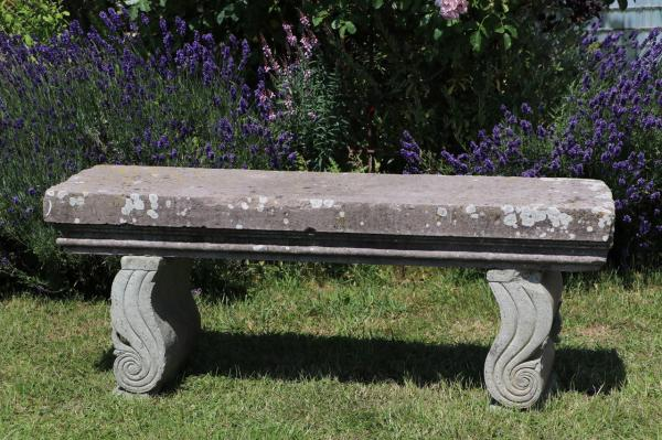 Simple Carved Stone Seat (Stk No.3875)