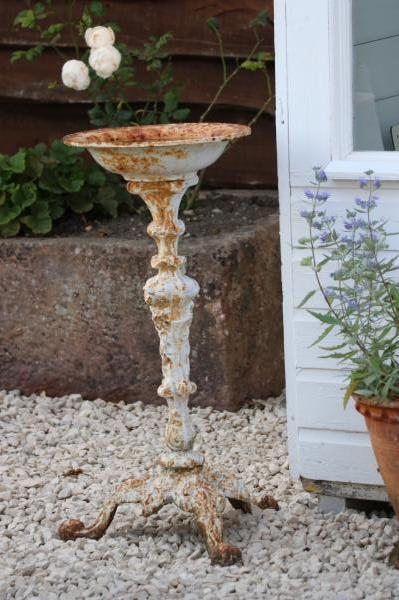 SOLD 19th Century Cast Iron Simple Bird Bath (Stk No.3887)