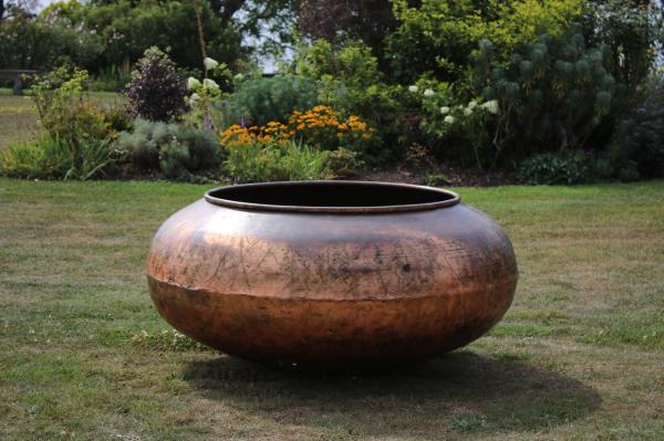 RESERVED X Large Copper Chocolate Pot Shiny (Stk No.3890)