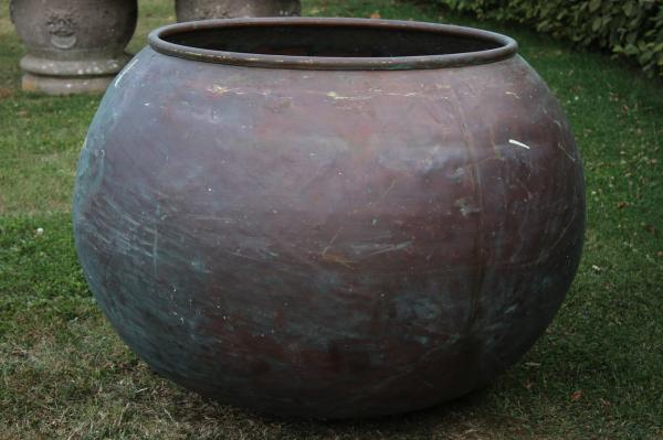 Large Copper Chocolate Pot (Stk No.3891)