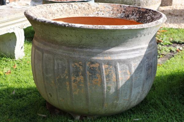 SOLD 19th Century French Stoneware Washpot (Stk No.3918)