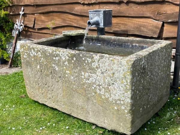 Large, Deep Rectangular Sandstone Trough (Stk No.3924)